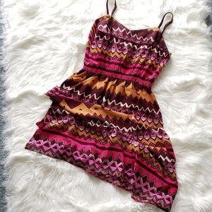 NWOT LOFT • purple maxi boho dress